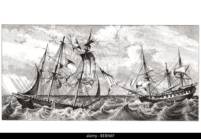 ships pitching - Stock Image