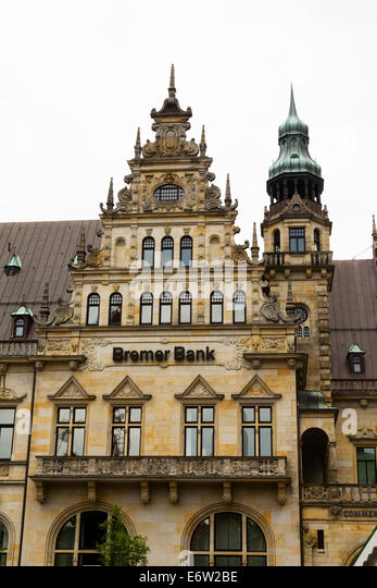 Facade of the Bremer Bank, Bremen, Germany, - Stock Image
