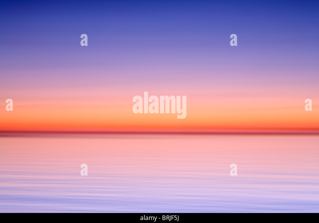 Impressions of twilight color on Lake Michigan - Stock Image