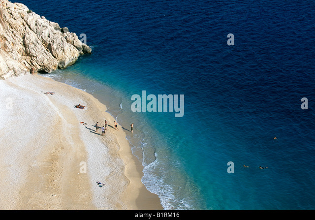 Beach of Kaputas, Kas, Turkish Riviera, Turkey - Stock Image