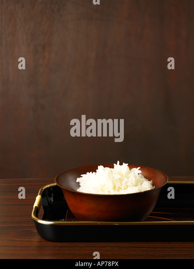 Cooked Jasmine Rice - Stock Image
