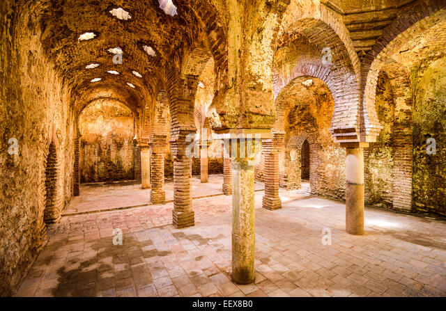 The Arab Public Baths dating from the 11th-12th Centuries in Ronda, Spain. - Stock-Bilder