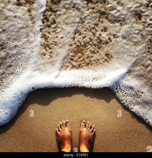 At the beach - Stock-Bilder