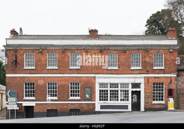The Jolly Porter public house standing empty - Exeter, DEvon, England, UK - Stock Image