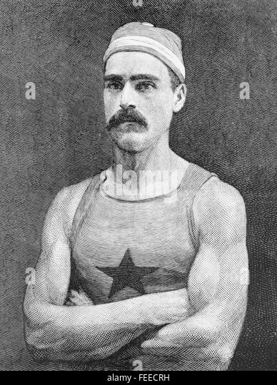CHARLES EDWARD COURTNEY (1849-1920) American champion rower - Stock Image