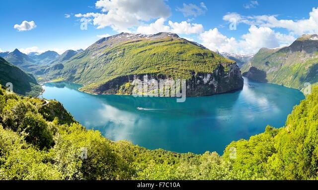 Geiranger Fjord, Norway - Stock-Bilder