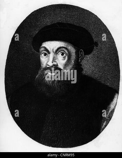 Magellaan, Ferdinand (Magalhaes, Fernao de), 1480 - 27.4.1521, Portuguese navigator and explorer, portrait, Magellan, - Stock Image