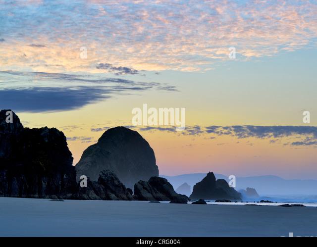 Sunrise at Harris Beach State Park, Oregon - Stock Image