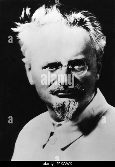 Leon Trotsky, 1930s - Stock Image