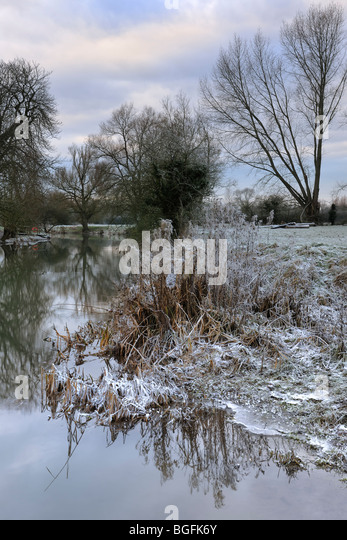 The River Avon at Great Somerford - Stock Image
