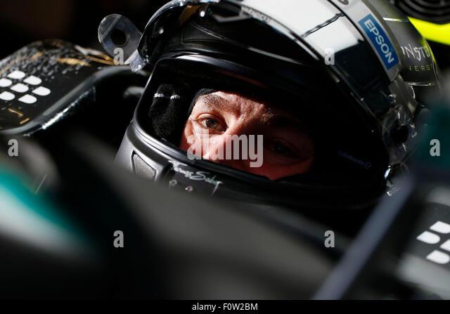 Circuit de Spa-Francorchamps, Belgium. 21st Aug, 2015. Motorsports: FIA Formula One World Championship 2015, Grand - Stock-Bilder