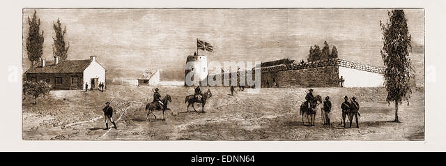 FORT BELL, THLOTSE HEIGHTS, BASUTOLAND, ATTACKED BY THE BASUTOS ON NOVEMBER 8TH, 1880 - Stock Image