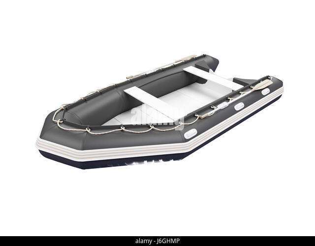 isolated transport boat white rowing boat sailing boat sailboat watercraft - Stock Image