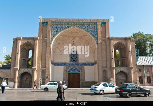 Ali Qapu archway, Qazvin, Iran - Stock Image
