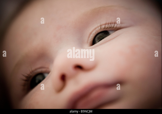 Baby's face - Stock Image