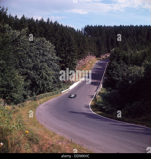A view of part of the Nurburgring race track, German Grand Prix, Germany, 1963. - Stock Image
