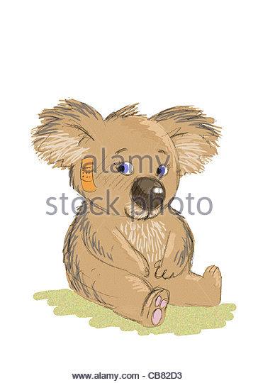 Nalle teddybr Injury patch sympathy figure teddy teddys teddybr teddybrchen - Stock Image
