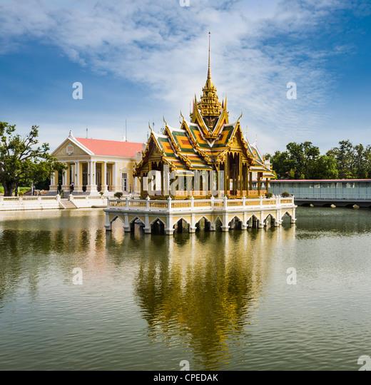 Phra Thinang Aisawan Thyphya-Art, the Summer Palace north of Bangkok, Thailand, built in 1876 by King Chulalongkorn. - Stock Image