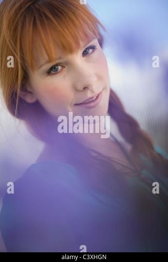 romantic soft Portrait of a woman - Stock Image