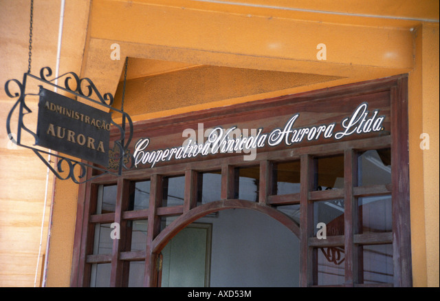 The wine cooperative Aurora, Bento Goncalves, southern Brazil - Stock Image
