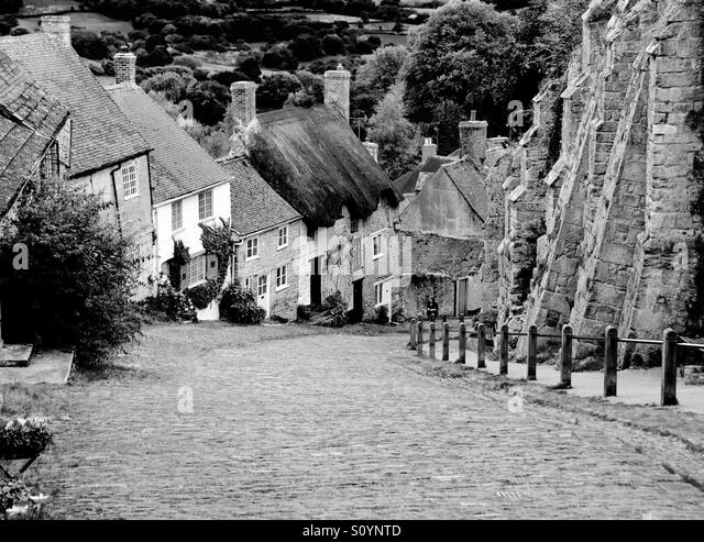 Gold Hill, Shaftesbury, UK - Stock Image