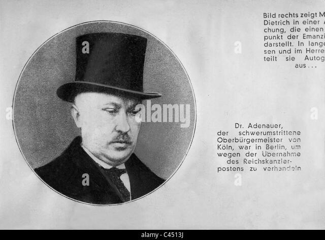 Konrad Adenauer in the 'Illustrated Observer', 1933 - Stock Image
