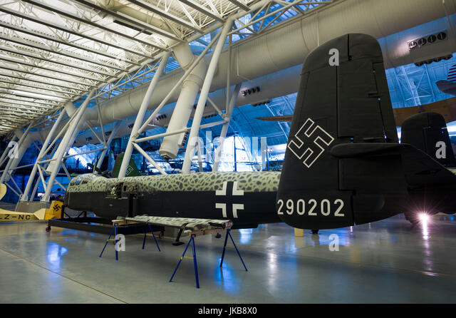 USA, Virginia, Herdon, National Air and Space Museum, Steven F. Udvar-Hazy Center, air museum, fuselage of WW2-era - Stock Image