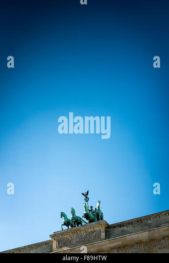 Quadriga on the Brandenburg Gate, Berlin, Germany - Stock Image