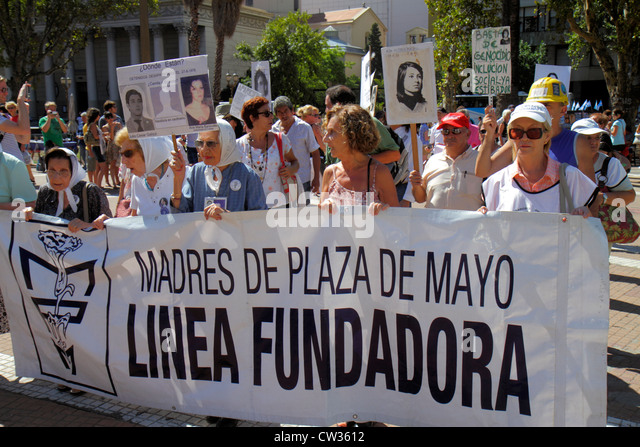 Buenos Aires Argentina Plaza de Mayo landmark historic main square political hub Madres de Plaza de Mayo mothers - Stock Image