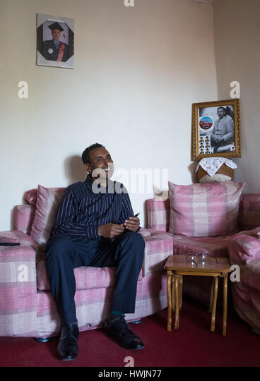 Pastor Mohamed Ousman Salih who converted from islam to christianity, Addis Ababa region, Addis Ababa, Ethiopia - Stock-Bilder