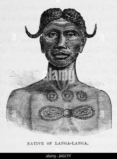 Stanley Founding of Congo Free State 101 Native of Langa Langa - Stock-Bilder