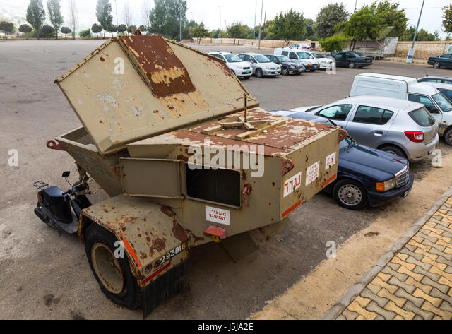 Israeli vehicule in the war museum operated by Hezbollah called the tourist landmark of the resistance or museum - Stock-Bilder