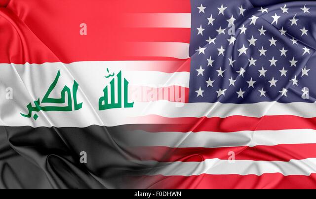 USA and Iraq - Stock Image