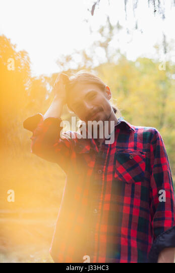 Portrait of a stylish young man - Stock Image