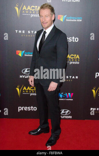 Sydney, Australia - 9th December 2015: Celebrities and VIP's pose on the Red Carpet during the 5th Annual AACTA - Stock Image