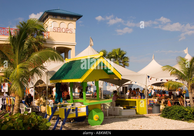 George Town Grand Cayman  modern shopping center souvenirs - Stock Image