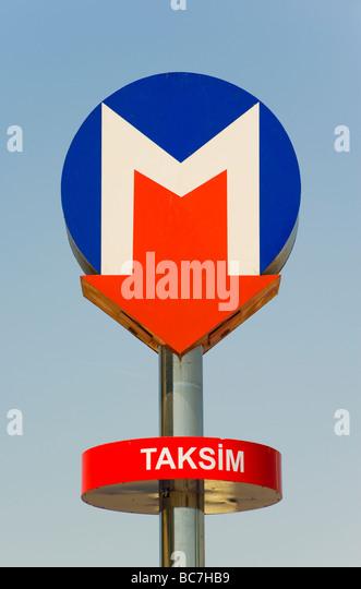 Taksim Metro station in Istanbul Turkey - Stock Image