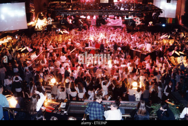 The Mall nightclub, Stockton. 20th December 1994. - Stock Image
