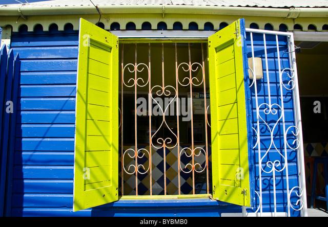 Redcliffe Quay duty free shopping area near cruise ship dock, St Johns Antigua - Stock Image