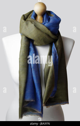 Handmade 100% cashmere classy woman's shawls. Product photography, London Studios , UK - Stock Image