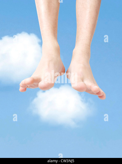 Flying in the sky - Stock Image