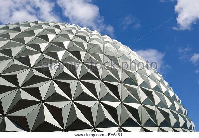 Spaceship Earth in Epcot Center at Walt Disney World in Lake Buena Vista Florida USA - Stock Image
