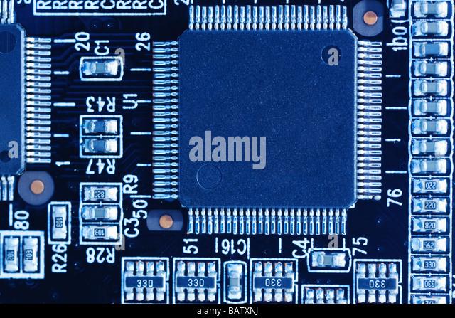 Circuit Board, close-up - Stock Image