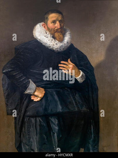Portrait of a Man, by Frans Hals, circa 1635, Boijmans van Beuningen Museum, Rotterdam, Netherlands, Europe - Stock Image
