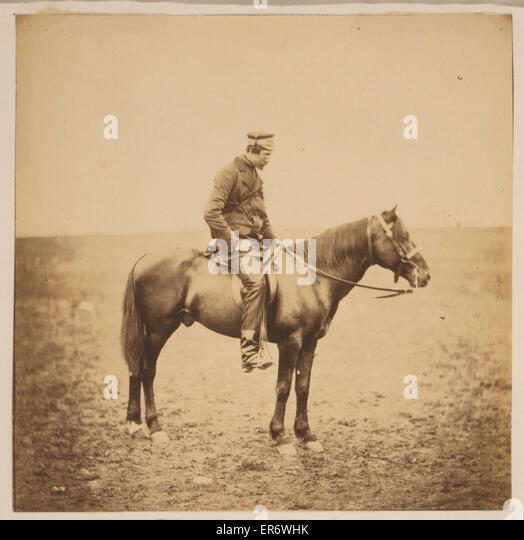 The Honourable Major Cathcart, Dep. As. Adj. General to the Light Division. Major Cathcart, full-length portrait, - Stock Image