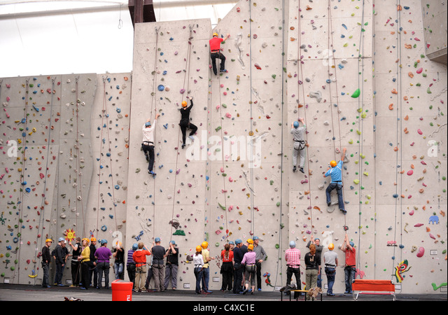 Edinburgh International Climbing Arena Ratho - Stock Image