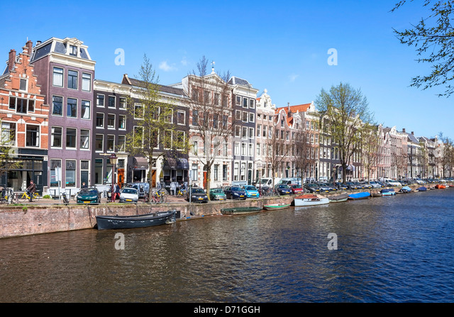 Amsterdam, Prinsengracht, North Holland, Netherlands - Stock Image