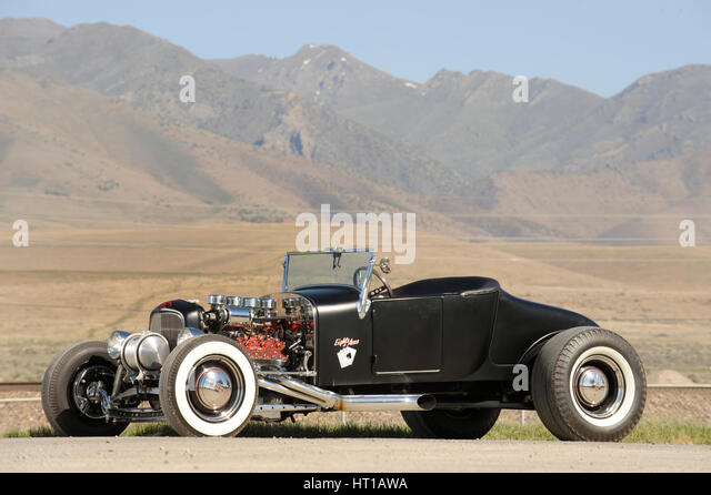 Ford Burning Desire Roadster 1927. Artist: Simon Clay. - Stock Image