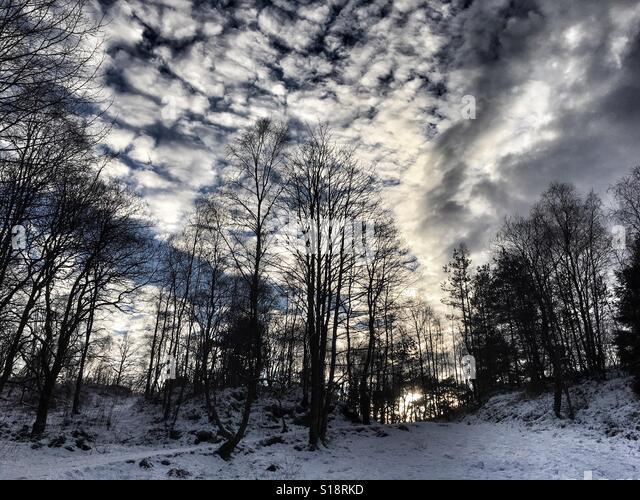 Winter sky - Stock Image