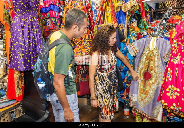 Johannesburg South Africa African Rosebank Mall The African Flea Market shopping sale display arts crafts vendor - Stock Image